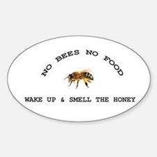 No Bees No Food Decal