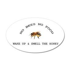 No Bees No Food Wall Decal
