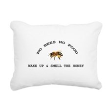 No Bees No Food Rectangular Canvas Pillow