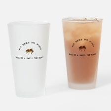 No Bees No Food Drinking Glass