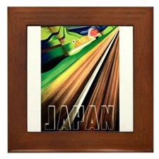 Antique 1937 Japanese Railways Travel Poster Frame