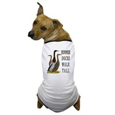 Runner Ducks Walk Tall Dog T-Shirt