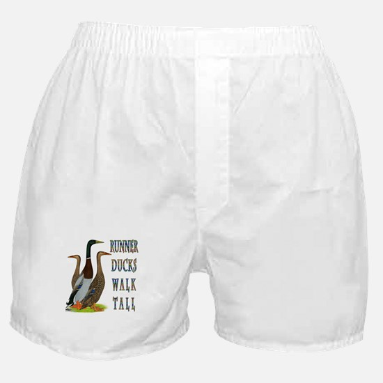 Runner Ducks Walk Tall Boxer Shorts