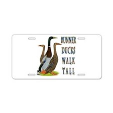 Runner Ducks Walk Tall Aluminum License Plate