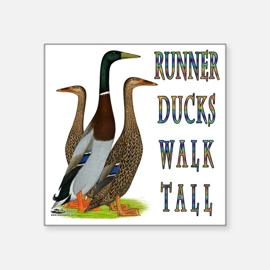 Runner Ducks Walk Tall Sticker