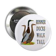"""Runner Ducks Walk Tall 2.25"""" Button (10 pack)"""