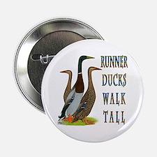 """Runner Ducks Walk Tall 2.25"""" Button"""