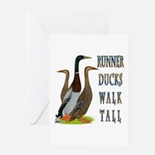 Runner Ducks Walk Tall Greeting Card