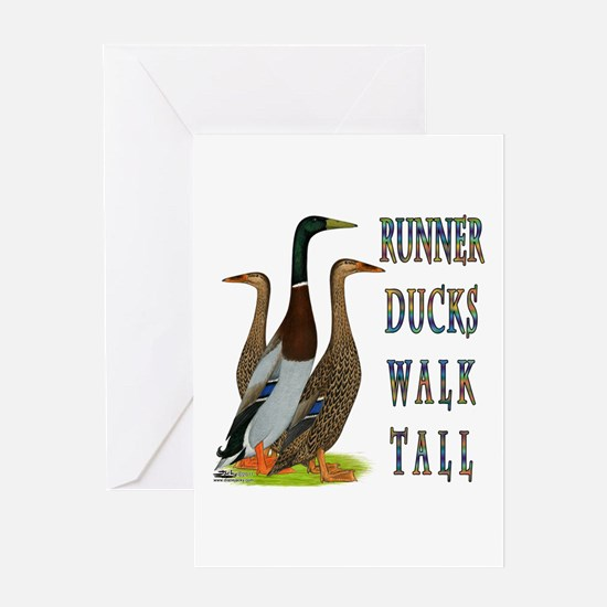 Runner Ducks Walk Tall Greeting Card