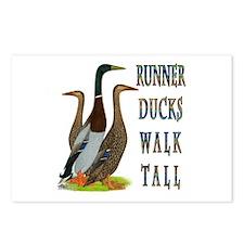 Runner Ducks Walk Tall Postcards (Package of 8)