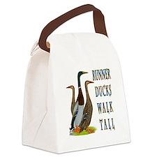 Runner Ducks Walk Tall Canvas Lunch Bag