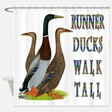 Runner Ducks Walk Tall Shower Curtain