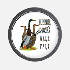 Runner Ducks Walk Tall Wall Clock