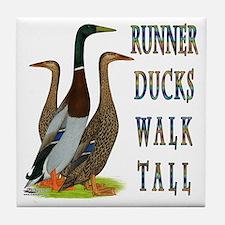Runner Ducks Walk Tall Tile Coaster