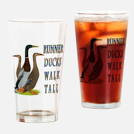 Runner Ducks Walk Tall Drinking Glass