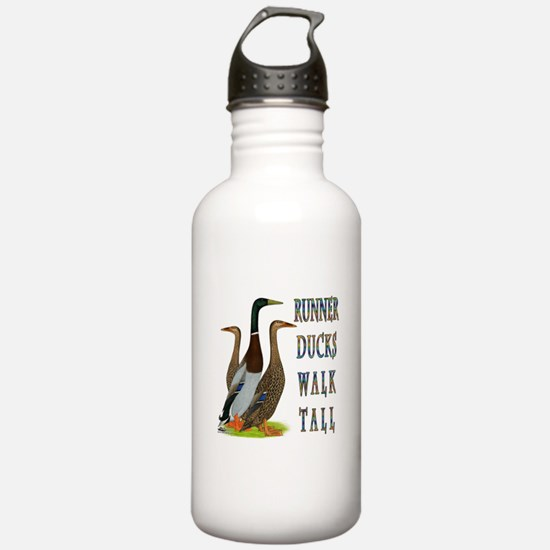 Runner Ducks Walk Tall Water Bottle