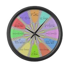 Newton Raphson Fractal Math Large Wall Clock