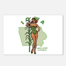 Faded Iowa Pinup Postcards (Package of 8)