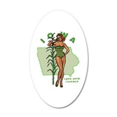 Faded Iowa Pinup Wall Decal