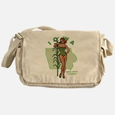 Faded Iowa Pinup Messenger Bag