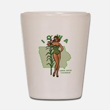 Faded Iowa Pinup Shot Glass