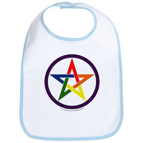 Rainbow Pentacle Bib