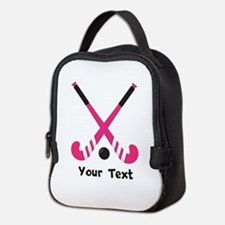 Personalized Field Hockey Neoprene Lunch Bag