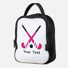 Personalized Field Hockey Neoprene Lunch Bag