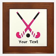 Personalized Field Hockey Framed Tile