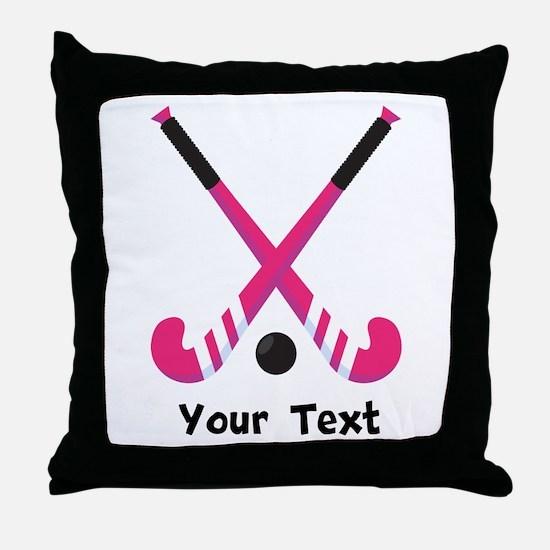 Personalized Field Hockey Throw Pillow