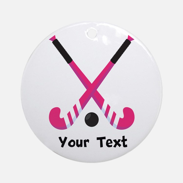 Personalized Field Hockey Ornament (Round)