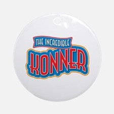 The Incredible Konner Ornament (Round)