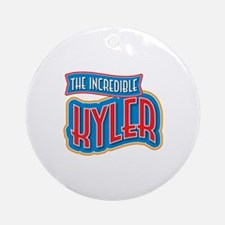 The Incredible Kyler Ornament (Round)