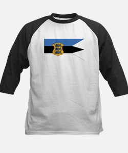 Estonia Naval Ensign Kids Baseball Jersey