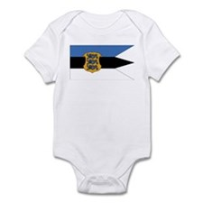 Estonia Naval Ensign Infant Bodysuit