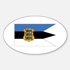 Estonia Naval Ensign Sticker (Oval)