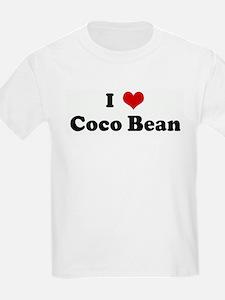 I Love Coco Bean Kids T-Shirt
