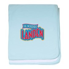 The Incredible Landen baby blanket