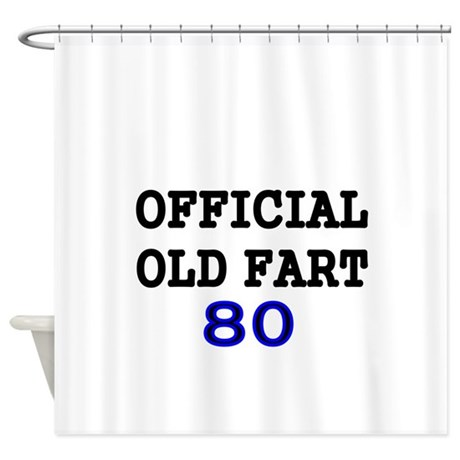 official old fart 80 shower curtain
