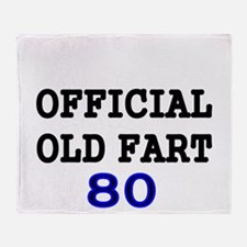 OFFICIAL OLD FART 80 Throw Blanket