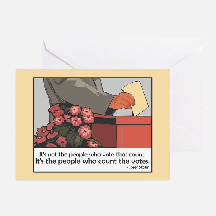 """Stalin Voting Quote"" Greeting Cards (Pk of 10"