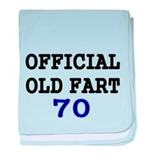 OFFICIAL OLD FART 70 baby blanket