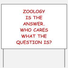 zoology Yard Sign