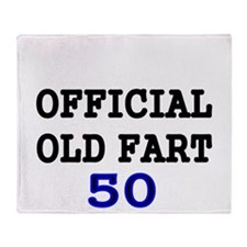 OFFICIAL OLD FART 50 Throw Blanket
