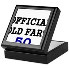 OFFICIAL OLD FART 50 Keepsake Box