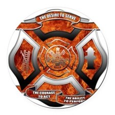 FD Seal.png Round Car Magnet
