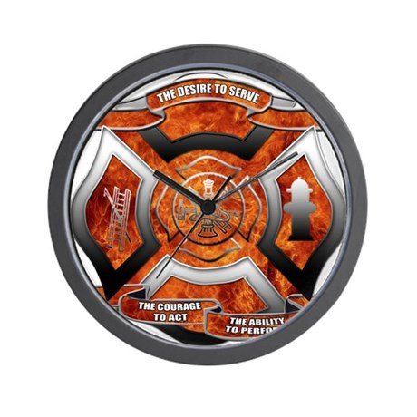 FD Seal.png Wall Clock