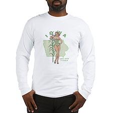 Faded Iowa Pinup Long Sleeve T-Shirt