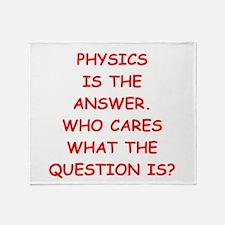PHYSICS Throw Blanket