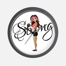 Strong Fit Girl Wall Clock